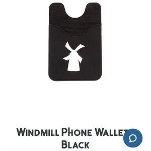 Dutch Bros Coffee Windmill Phone Wallet - Black